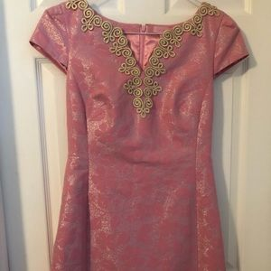 Lilly Pulitzer women's dress size 8 pink gold